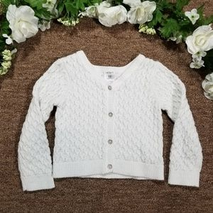 2/$15 Carter's white knit sweater/cardigan